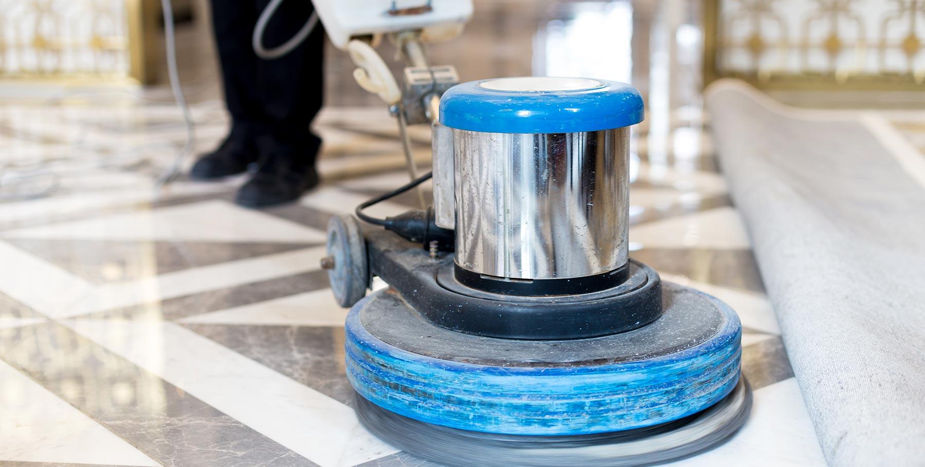 vloeren boenen machine
